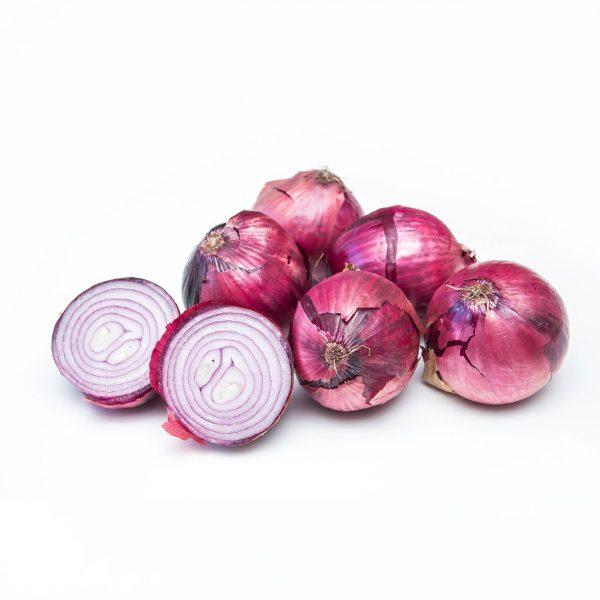 Fresh Organic Red Onions Vegetable