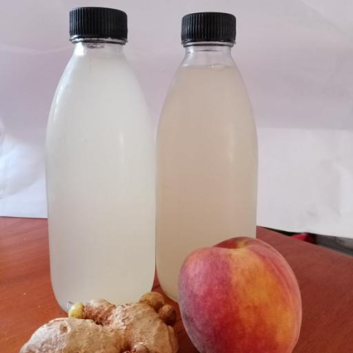 ginger peach water kefir